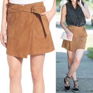 Chelsea28 x Olivia Palermo Suede Wrap Skirt